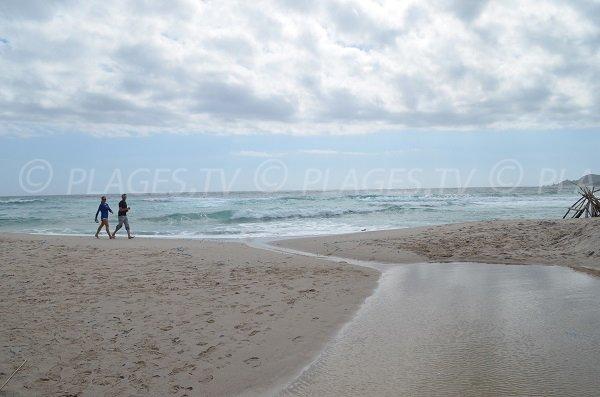 Sand beach of Cala d'Orzo in Corsica
