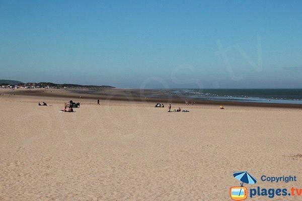 Calais beach in France