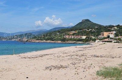 Calcatoggio beach in Corsica