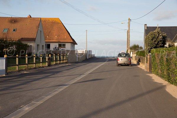 Caline street in Bernières sur Mer