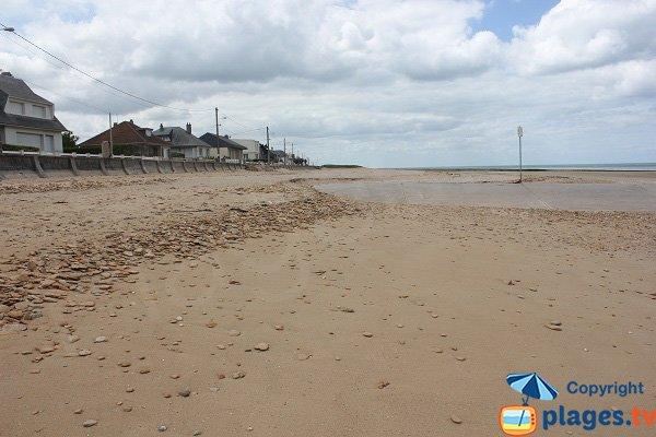 Caline beach in June in Bernières - Normandy