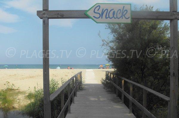 Accès à la plage de Calzarellu