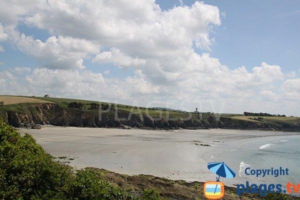 Photo de la plage de Cameros à Saint-Nic - Bretagne