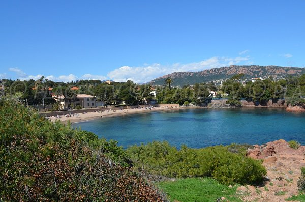 Photo of Dramont beach in Agay in France