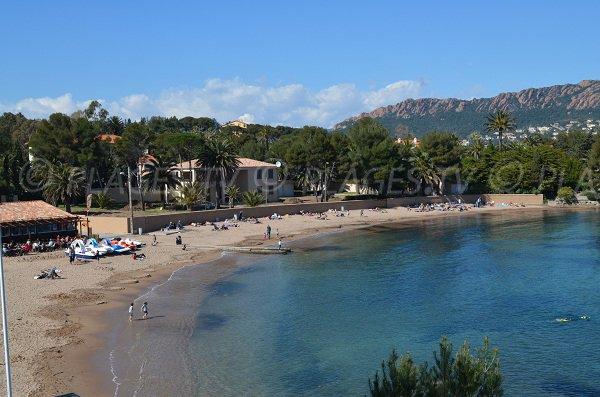 Esterel beach near Saint-Raphael in France