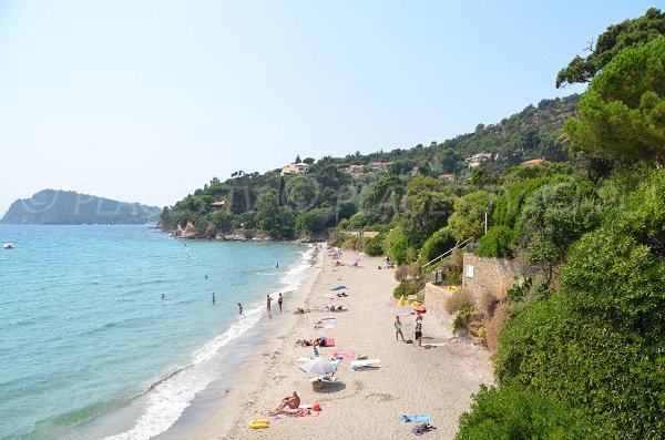 Photo of the Canadel beach in Rayol-Canadel