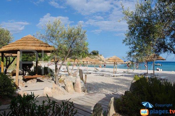 Plage privée sur la plage de Canella - Corse