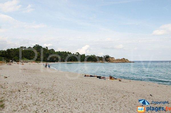 Vue globale de la plage de Canella