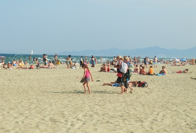 Canet-Plage beach in south of France