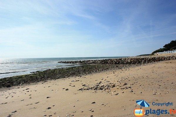 Photo de la plage au niveau de la pointe du Canon - Jard sur Mer