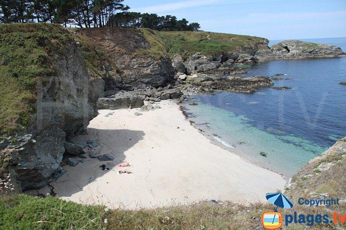 Belle plage de sable à Le Palais