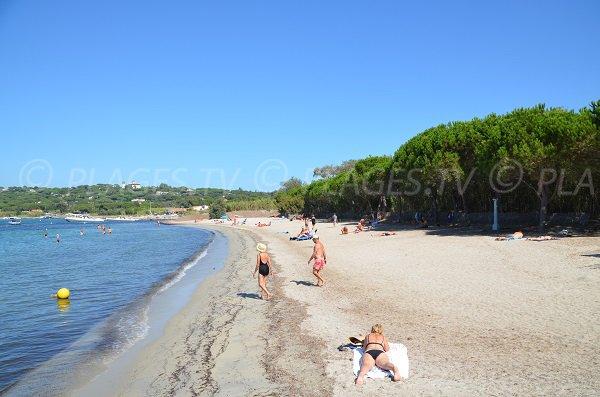 Foto spiaggia dei Canoubiers a St Tropez - Francia