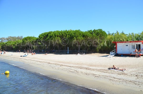 First-aid post on the Canoubiers beach of Saint-Tropez
