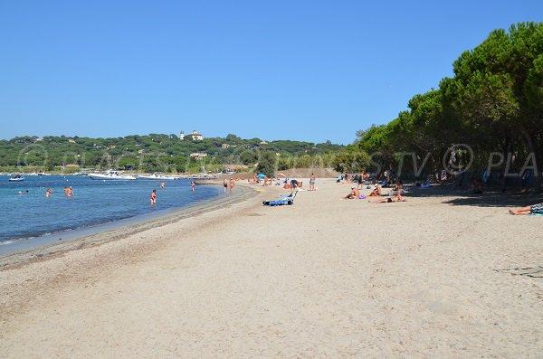 Canoubiers beach in summer in Saint Tropez