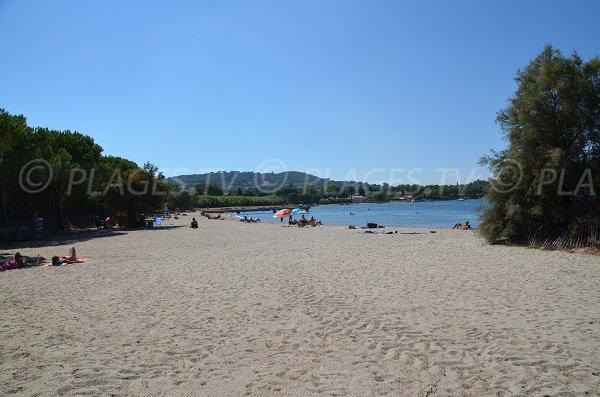 Photo de la plage des Canoubiers au niveau de l'accès principal