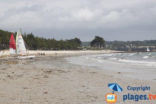 Extrémité de la plage de Cap Coz - Fouesnant