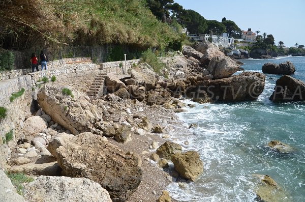 Cap Fleuri beach in Cap d'Ail
