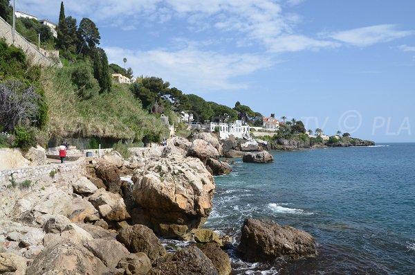 Littoral du Cap d'Ail entre la pointe de Rognoso et la pointe des Douaniers
