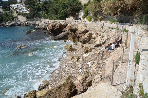 Photo de la plage du Cap Fleuri au Cap d'Ail