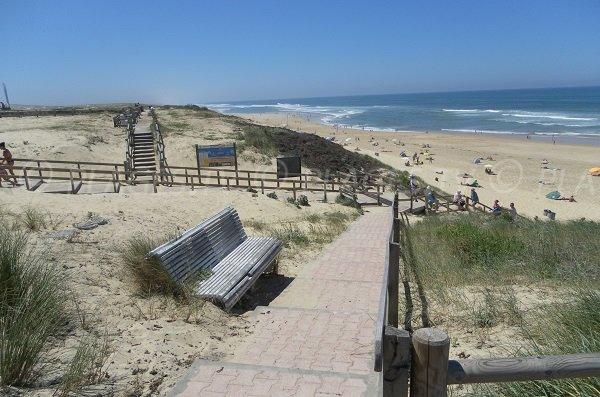 Accès à la plage de Lit et Mixe - Cap de l'Homy