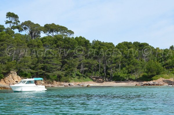 Cap Leoube beach in Bormes les Mimosas in France