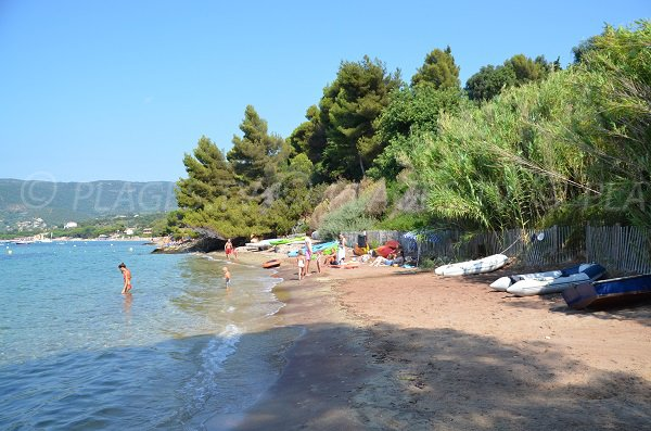 Cape Negre beach in Lavandou - second area