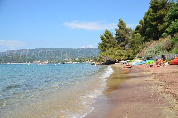 Confidential beach in Lavandou