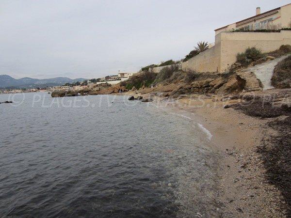 Spiaggia pubblica a Capo Negro a Six Fours