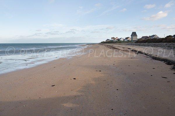 Photo de la plage du Cap Romain à Bernières sur Mer