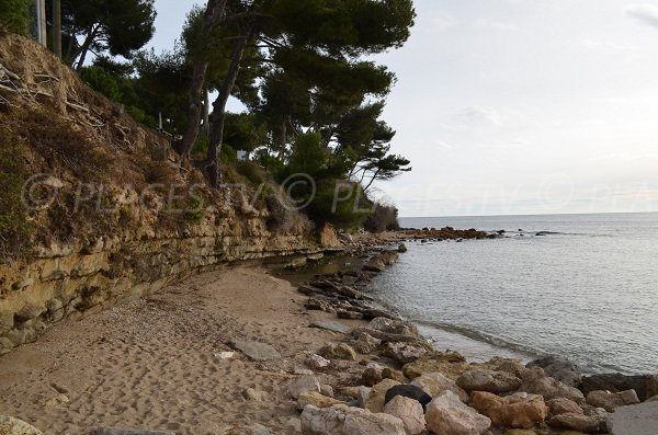 Sand beach at the end of Cap Rousset