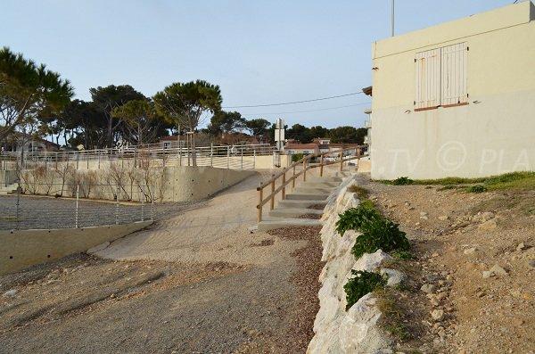 Accesso per i disabili sulla spiaggia di Cap Rousset