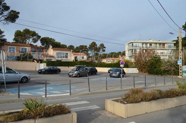 Parcheggio gratuito spiggia del Cap Rousset