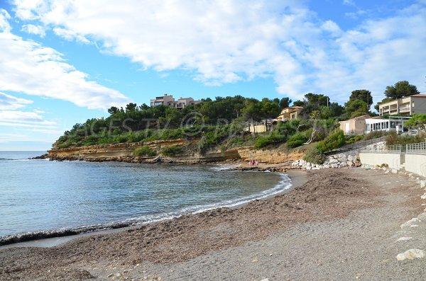 Foto della spiaggia del Cap Rousset a Carry le Rouet - Francia