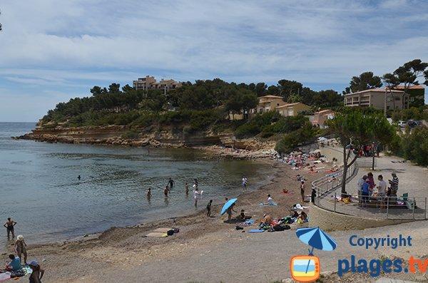 Photo de la plage du Cap Rousset en été - Carry le Rouet