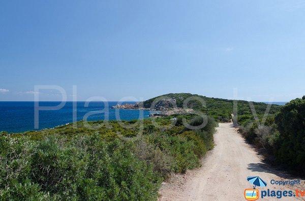 Piste pour la plage de Capicciola - Zonza