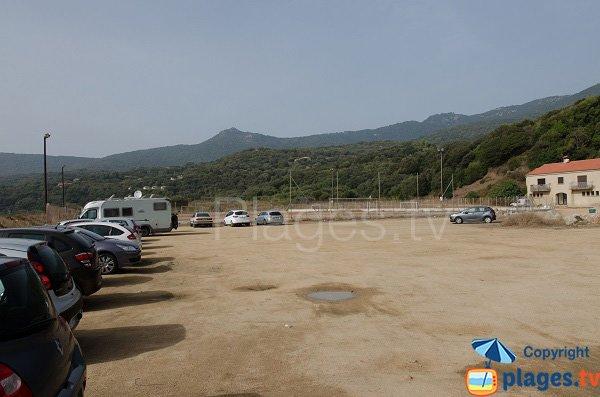 Parking de la plage de Capicciolo - Corse