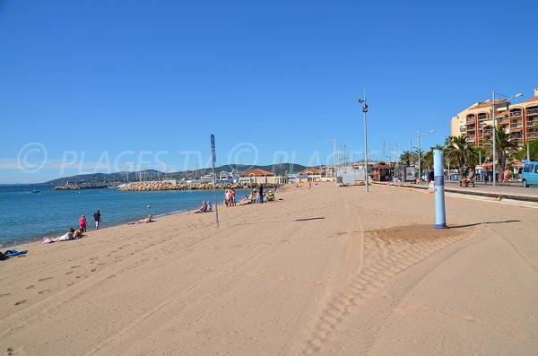 Photo de la plage du Capitole à Fréjus - Var