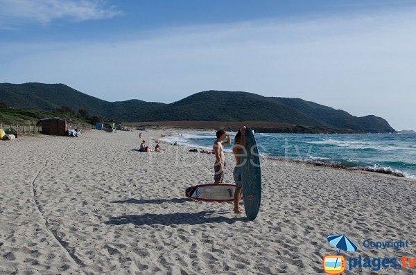 Surfisti spiaggia di Capo di Feno - Ajaccio