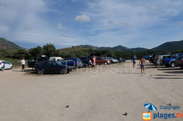 Parking of Capo di Feno beach - Ajaccio