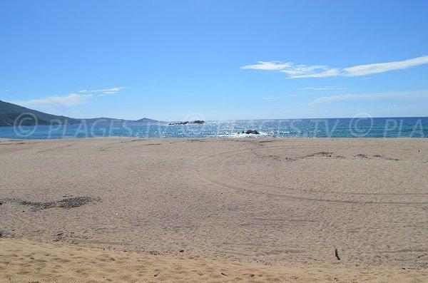 Sand beach of Capu Laurosu in Propriano - Corsica