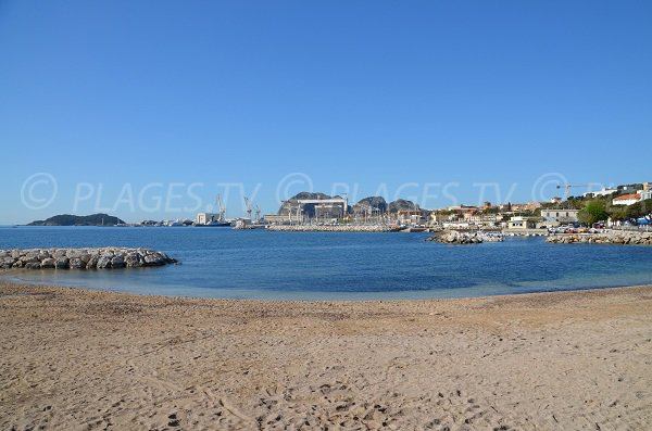 Central beach of La Ciotat and Ile Verte view