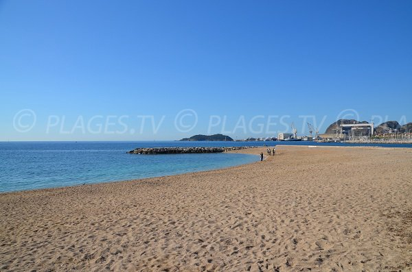 Capucins beach in La Ciotat