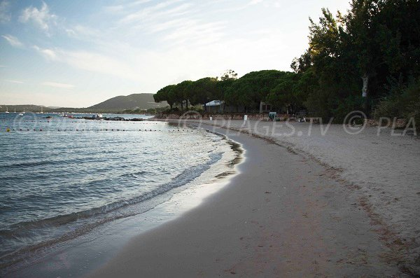 Plage dans le golfe de Pinarello - Caramontinu