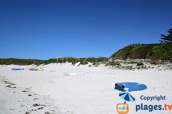 Dunes de la plage de Le Carn à Ploudalmézeau