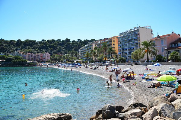 Beach of Carnoles in Roquebrune in Summer