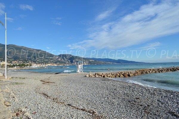 Photo of Carnoles beach in the first cove - Roquebrune Cap Martin