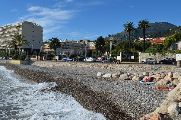 Handicap accessible beach in Roquebrune Cap Martin