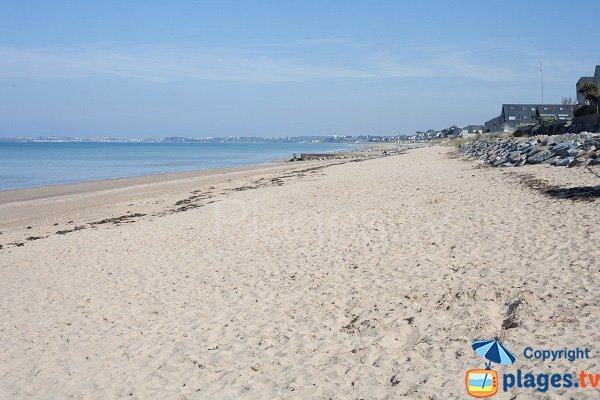 Carolles beach with view on Jullouville - France