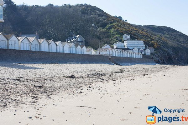 Seaside of Carolles in France