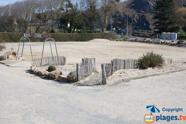 Parking of Carolles beach
